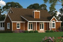 Dream House Plan - Ranch Exterior - Rear Elevation Plan #314-292