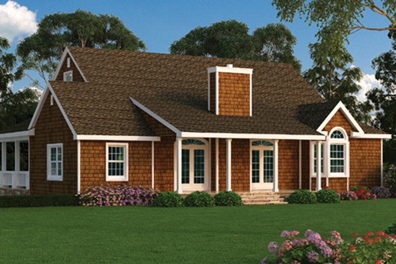Ranch Exterior - Rear Elevation Plan #314-292 - Houseplans.com