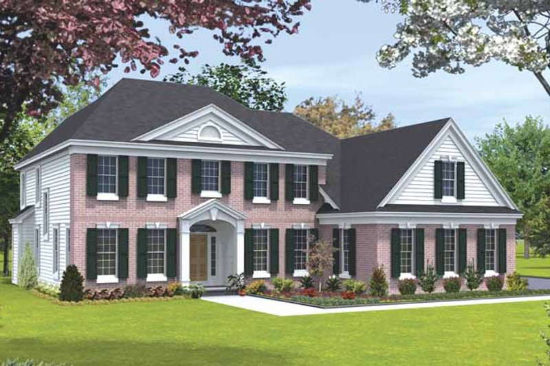 Classical Exterior - Front Elevation Plan #328-439