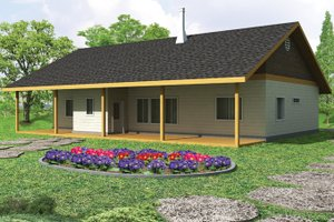 House Design - Cabin Exterior - Front Elevation Plan #117-857