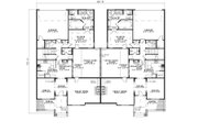 Traditional Style House Plan - 3 Beds 2.5 Baths 2226 Sq/Ft Plan #17-2401 Floor Plan - Main Floor Plan