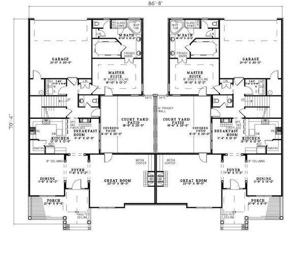 Dream House Plan - Traditional Floor Plan - Main Floor Plan #17-2401