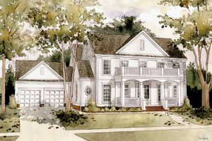 Classical Exterior - Front Elevation Plan #1032-1