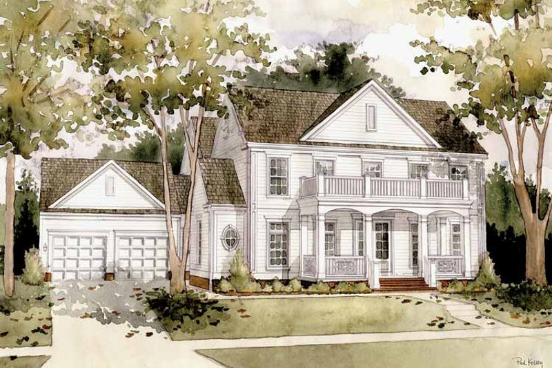 Classical Exterior - Front Elevation Plan #1032-1 - Houseplans.com
