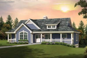 Home Plan - Country Exterior - Front Elevation Plan #57-637