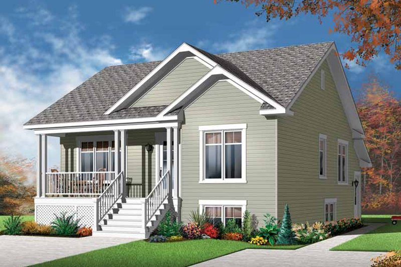 Country Exterior - Front Elevation Plan #23-2559 - Houseplans.com
