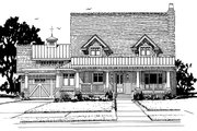 Craftsman Style House Plan - 3 Beds 3 Baths 1825 Sq/Ft Plan #942-52 Exterior - Front Elevation