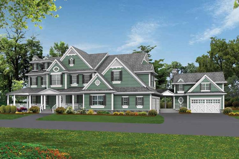Country Exterior - Front Elevation Plan #132-522 - Houseplans.com