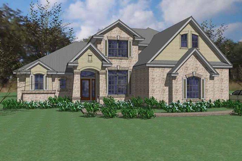 House Plan Design - European Exterior - Front Elevation Plan #120-231