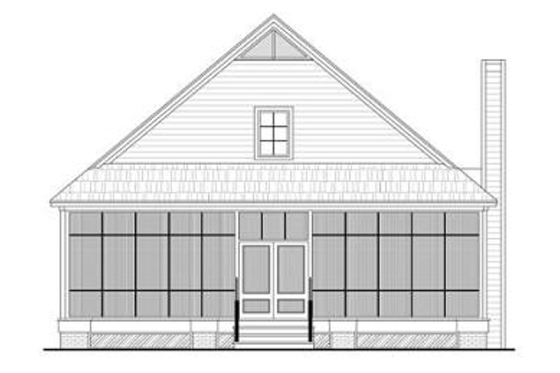Farmhouse Exterior - Rear Elevation Plan #21-227 - Houseplans.com