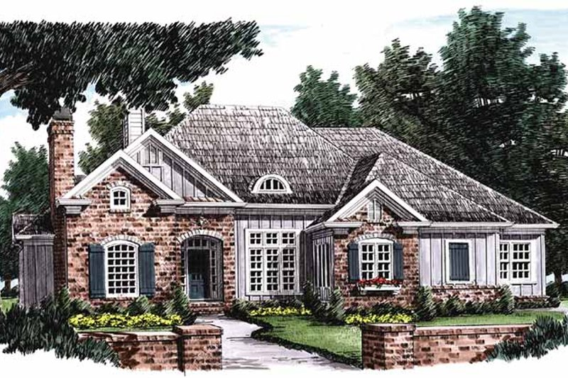 Home Plan - European Exterior - Front Elevation Plan #927-769