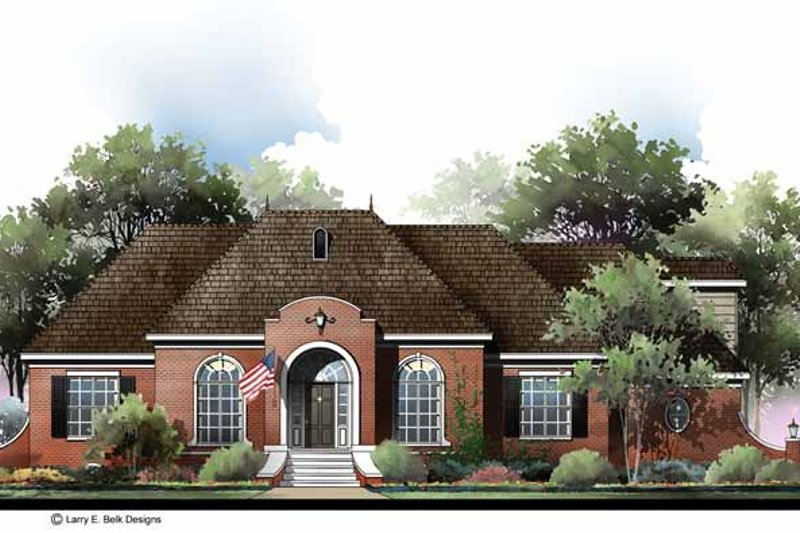 Country Exterior - Front Elevation Plan #952-280
