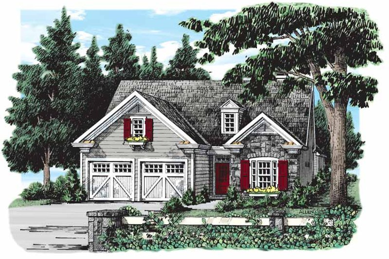 Ranch Exterior - Front Elevation Plan #927-259 - Houseplans.com
