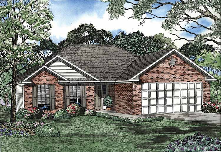 Ranch Exterior - Front Elevation Plan #17-3210