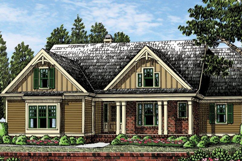 House Plan Design - Craftsman Exterior - Front Elevation Plan #927-954