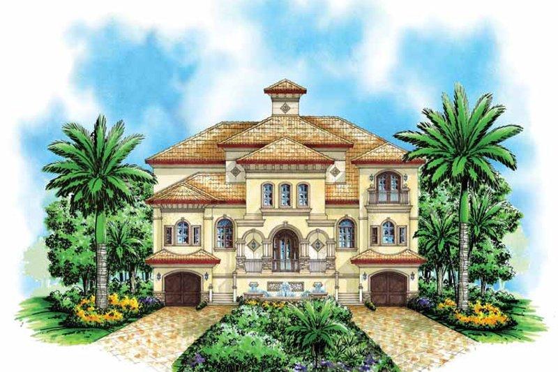 Dream House Plan - Mediterranean Exterior - Front Elevation Plan #1017-111