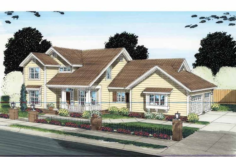 Architectural House Design - Traditional Exterior - Front Elevation Plan #513-2126