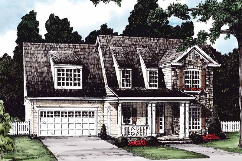 Country Exterior - Front Elevation Plan #927-611 - Houseplans.com