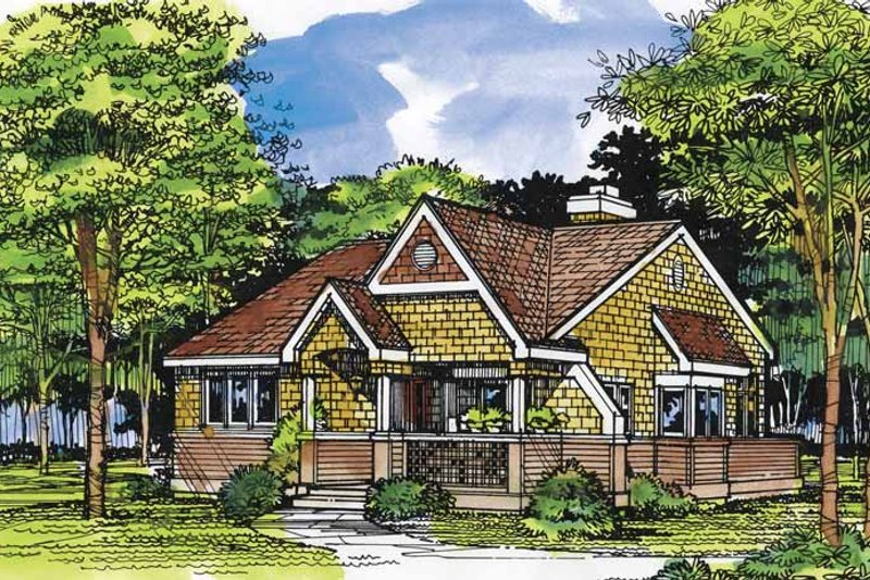 Country Exterior - Front Elevation Plan #320-952