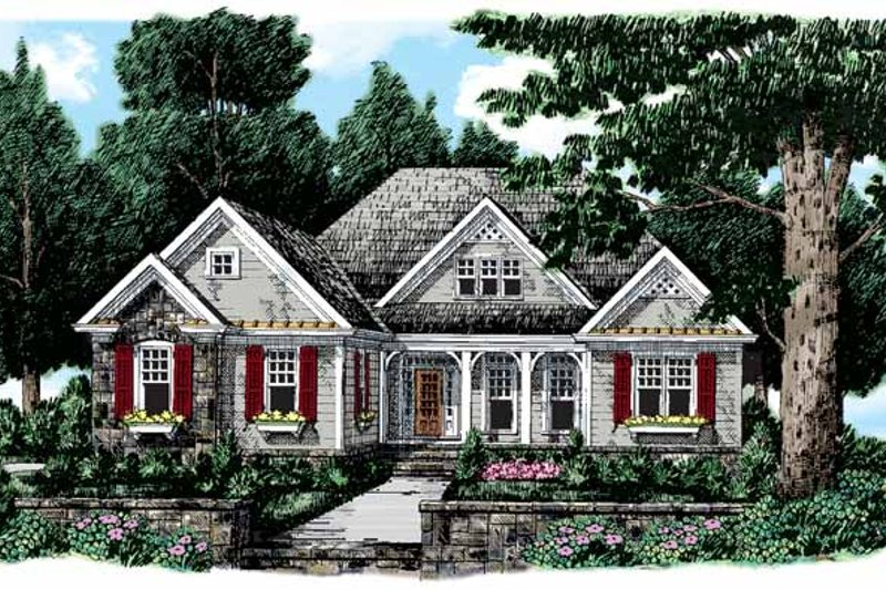 Country Style House Plan - 3 Beds 2 Baths 2034 Sq/Ft Plan #927-108 Exterior - Front Elevation