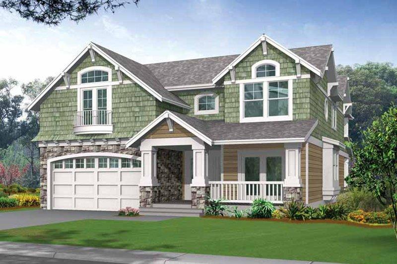 Architectural House Design - Craftsman Exterior - Front Elevation Plan #132-321