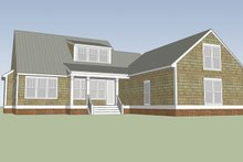 Colonial Exterior - Rear Elevation Plan #991-26
