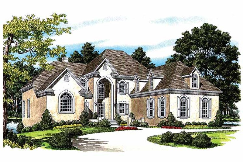 Traditional Exterior - Front Elevation Plan #453-420 - Houseplans.com