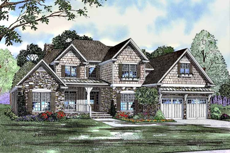 Home Plan - Traditional Exterior - Front Elevation Plan #17-2987