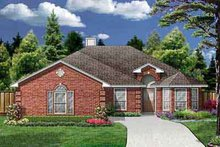 Southern Exterior - Front Elevation Plan #84-202