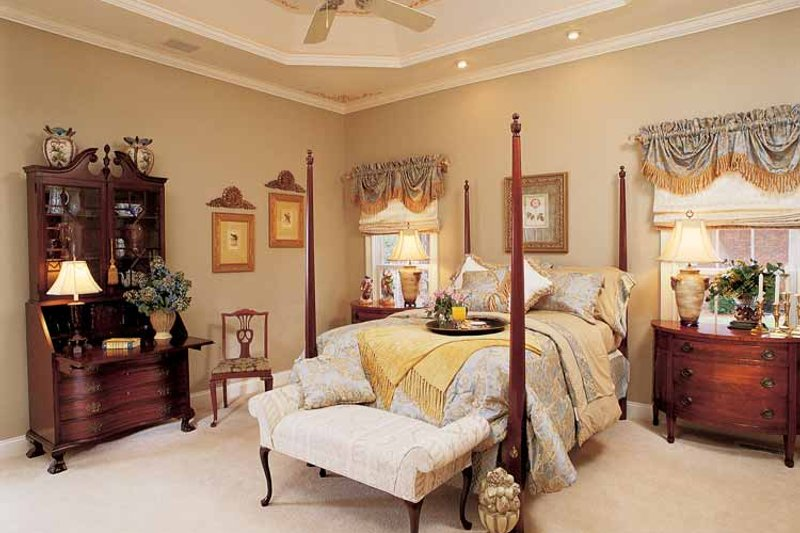 Country Interior - Master Bedroom Plan #952-275 - Houseplans.com