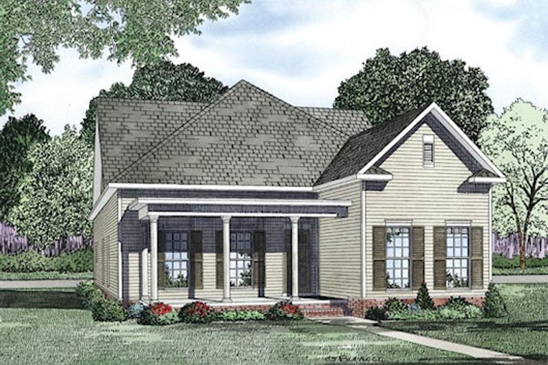 Traditional Exterior - Front Elevation Plan #17-2424 - Houseplans.com