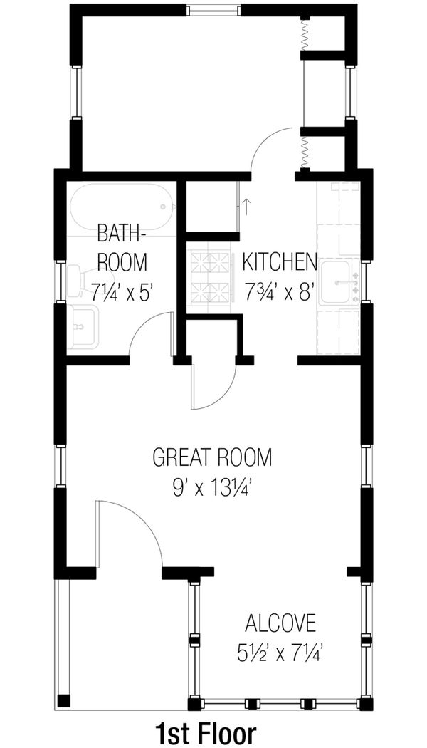 Cottage Floor Plan - Main Floor Plan #915-8