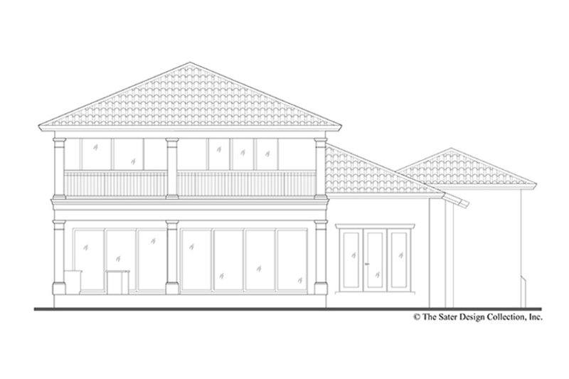 Mediterranean Exterior - Rear Elevation Plan #930-449 - Houseplans.com