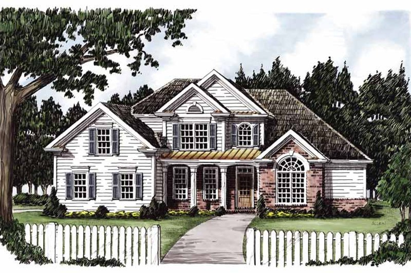 Country Exterior - Front Elevation Plan #927-620 - Houseplans.com