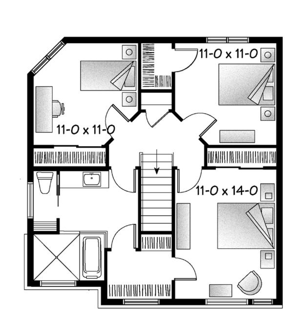 House Plan Design - Contemporary Floor Plan - Upper Floor Plan #23-2587