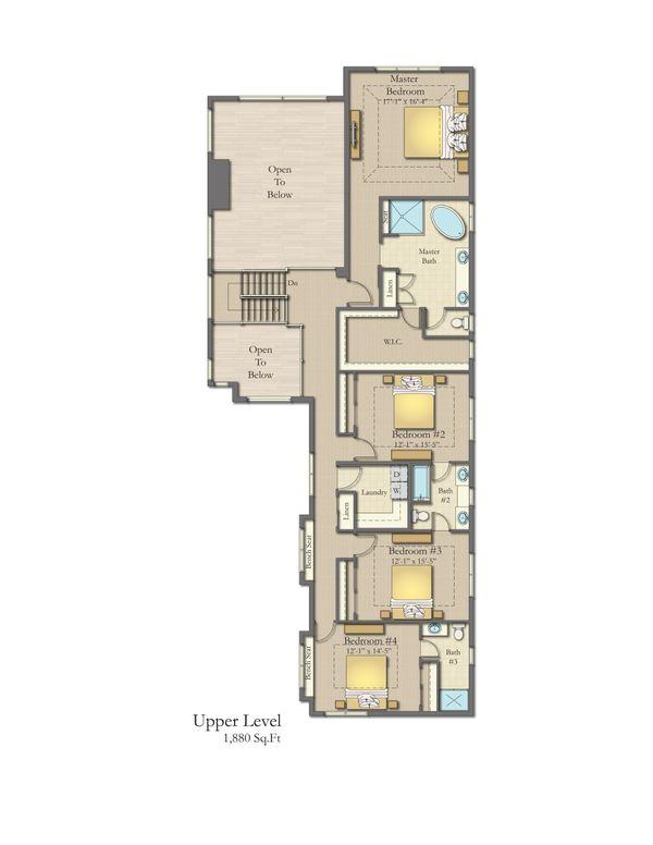 Home Plan - Craftsman Floor Plan - Upper Floor Plan #1057-29