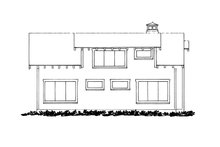 Cabin Exterior - Rear Elevation Plan #942-34