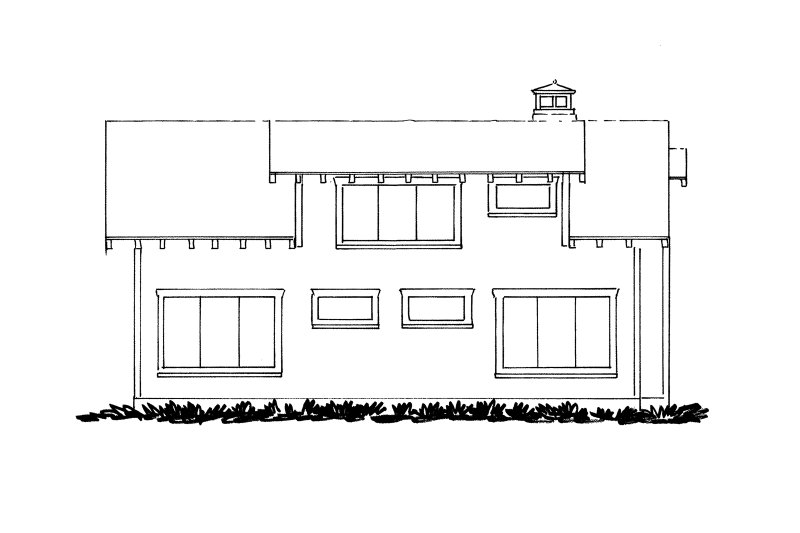 Cabin Exterior - Rear Elevation Plan #942-34 - Houseplans.com
