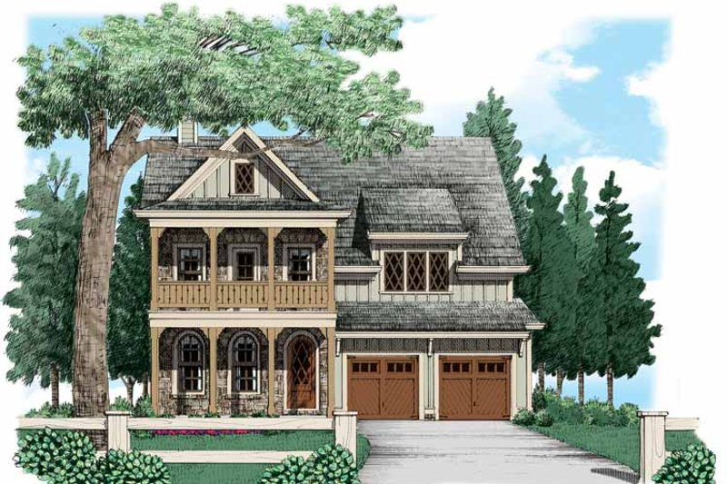 European Exterior - Front Elevation Plan #927-533 - Houseplans.com