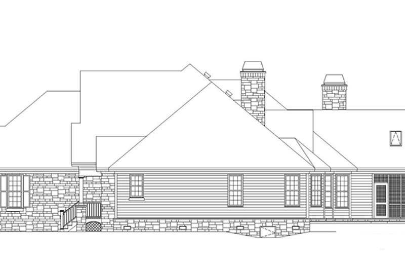 Country Exterior - Other Elevation Plan #929-955 - Houseplans.com