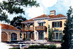 Mediterranean Exterior - Front Elevation Plan #429-36