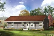 Farmhouse Style House Plan - 3 Beds 2 Baths 1285 Sq/Ft Plan #57-526 Exterior - Front Elevation