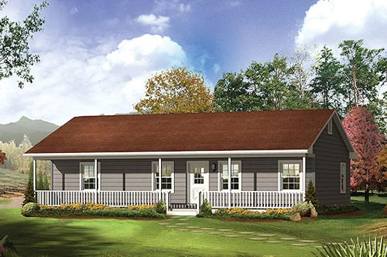 Farmhouse Exterior - Front Elevation Plan #57-526