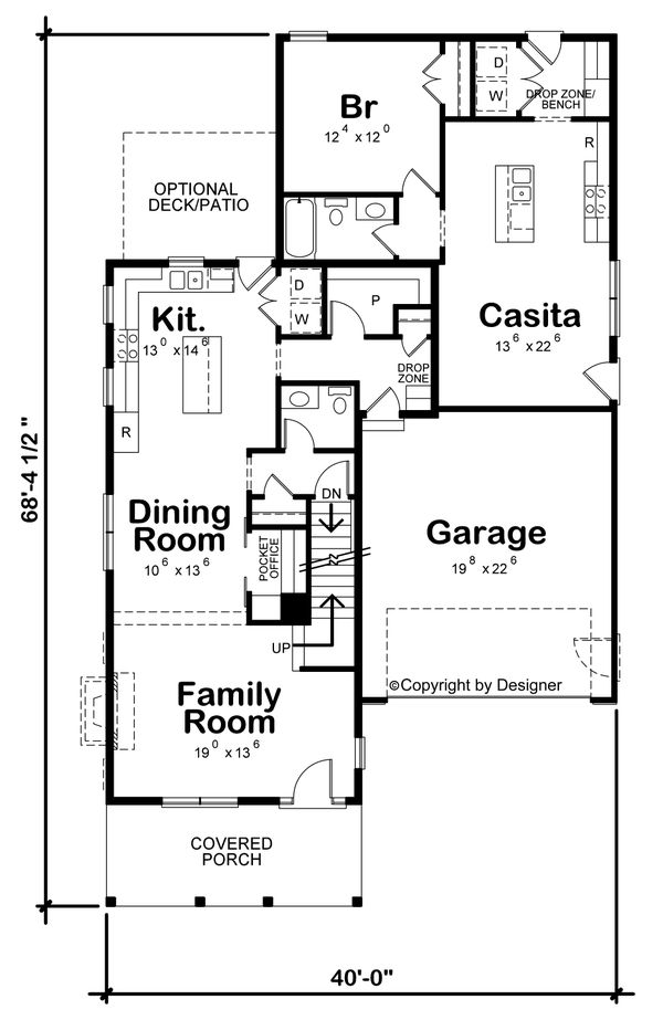 House Blueprint - Beach Floor Plan - Main Floor Plan #20-2426
