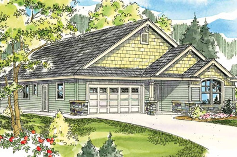Craftsman Exterior - Front Elevation Plan #124-783 - Houseplans.com