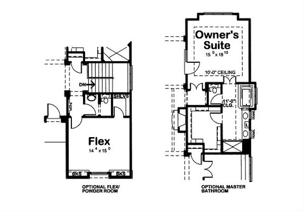 European Floor Plan - Other Floor Plan Plan #20-2071