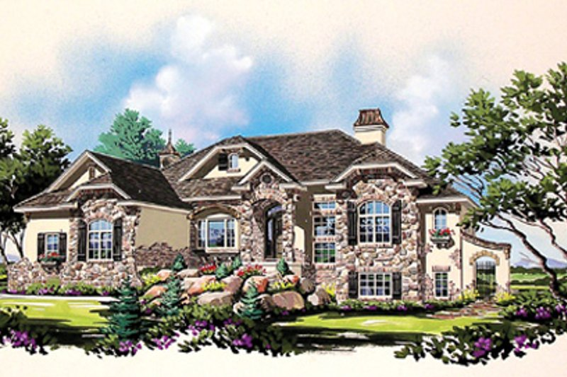 Bungalow Exterior - Front Elevation Plan #5-281