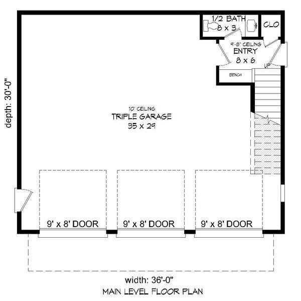 Contemporary Floor Plan - Lower Floor Plan #932-113