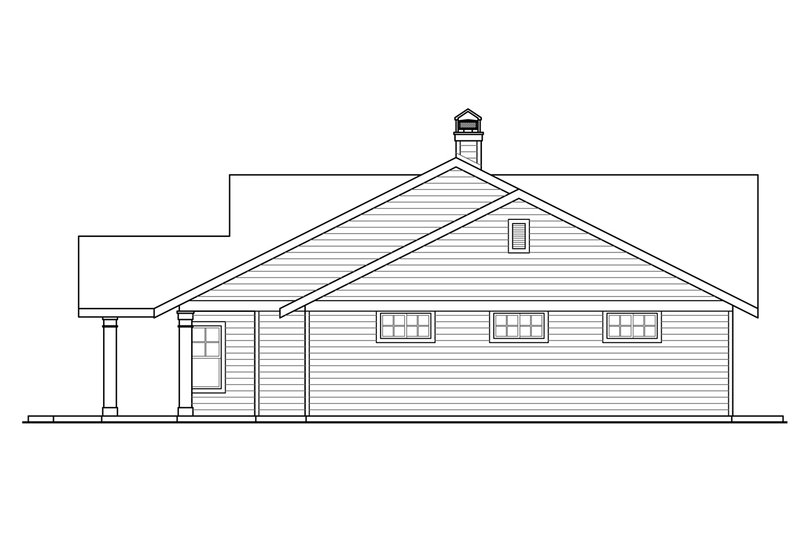 Ranch Exterior - Other Elevation Plan #124-953 - Houseplans.com