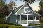 Craftsman Style House Plan - 3 Beds 2 Baths 1251 Sq/Ft Plan #95-219 Exterior - Front Elevation